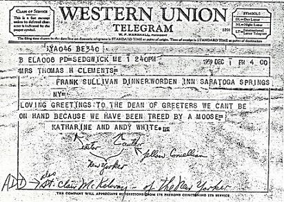 Telegram from the Whites