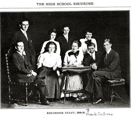 Saratoga Springs High School, Class of 1910