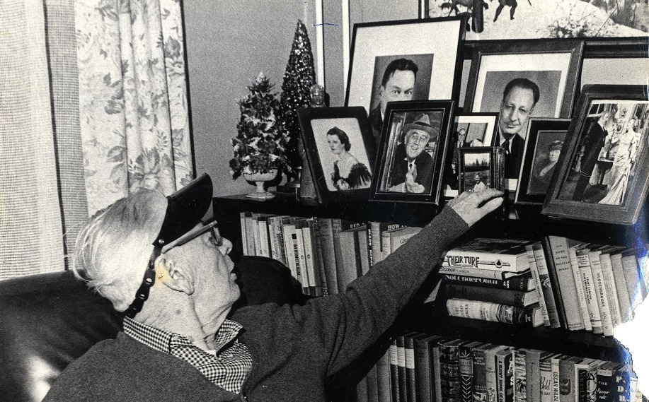 Frank Sullivan at home with friends