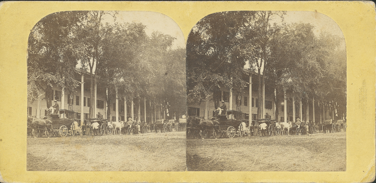 Carriages lined up in front of the Union Hotel