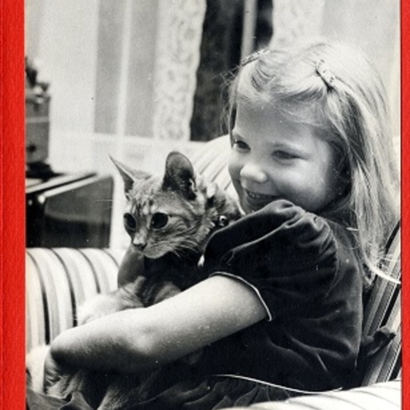 Lindsey-Ann with her cat
