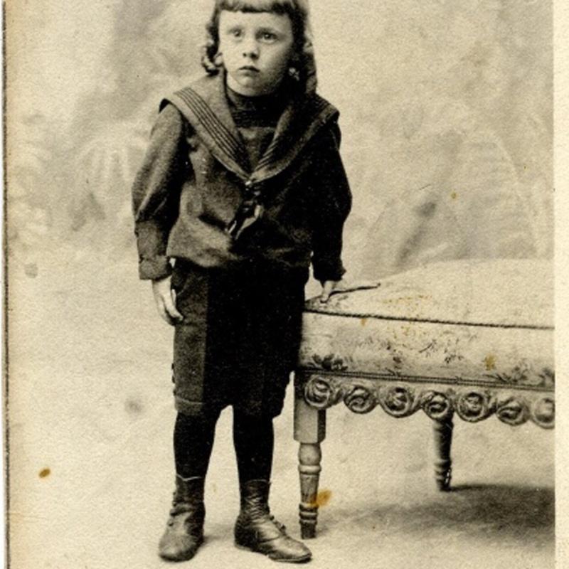 Frank Sullivan as a small child