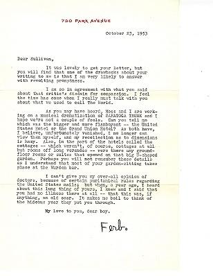 Letter from Edna Ferber