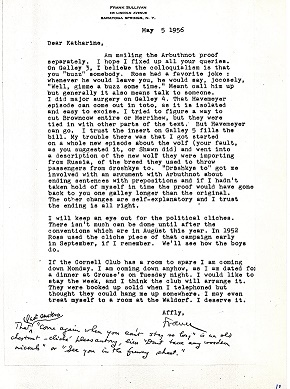 Letter to Katherine White