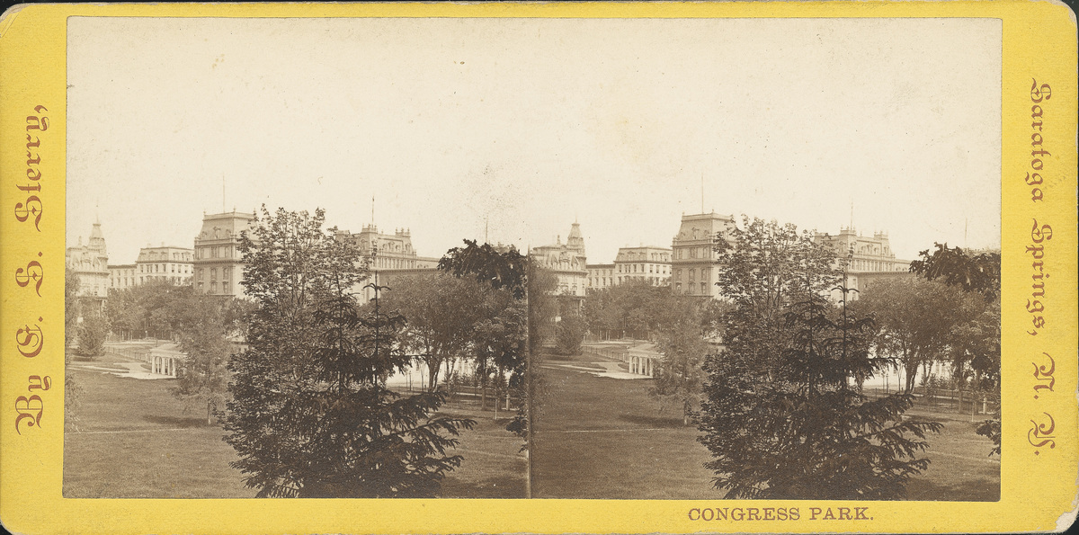 Grand Union, United States and Congress Hall viewed from Congress Park