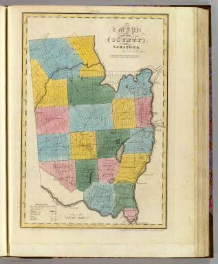 Map of the County of Saratoga. By David H. Burr. Published by the Surveyor General, pursuant to an Act of the Legislature. Entered according to an Act of Congress Jany. 5th. 1829 by David H. Burr of the State of New York. Engd. by Rawdon, Clark & Co., Albany & Rawdon, Wright & Co., N. York.