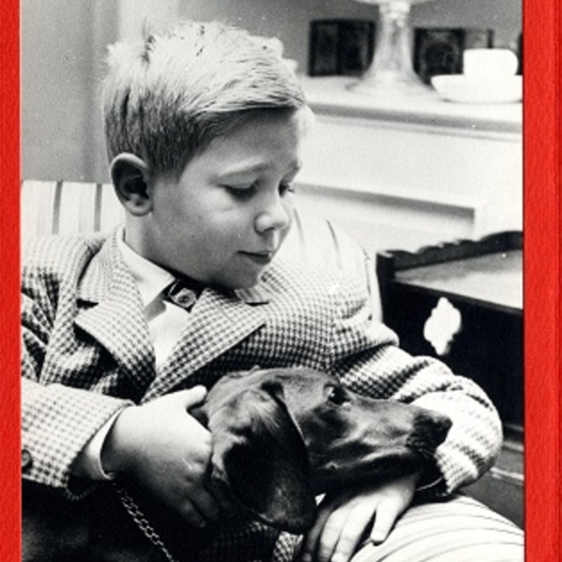 Timothy with his puppy