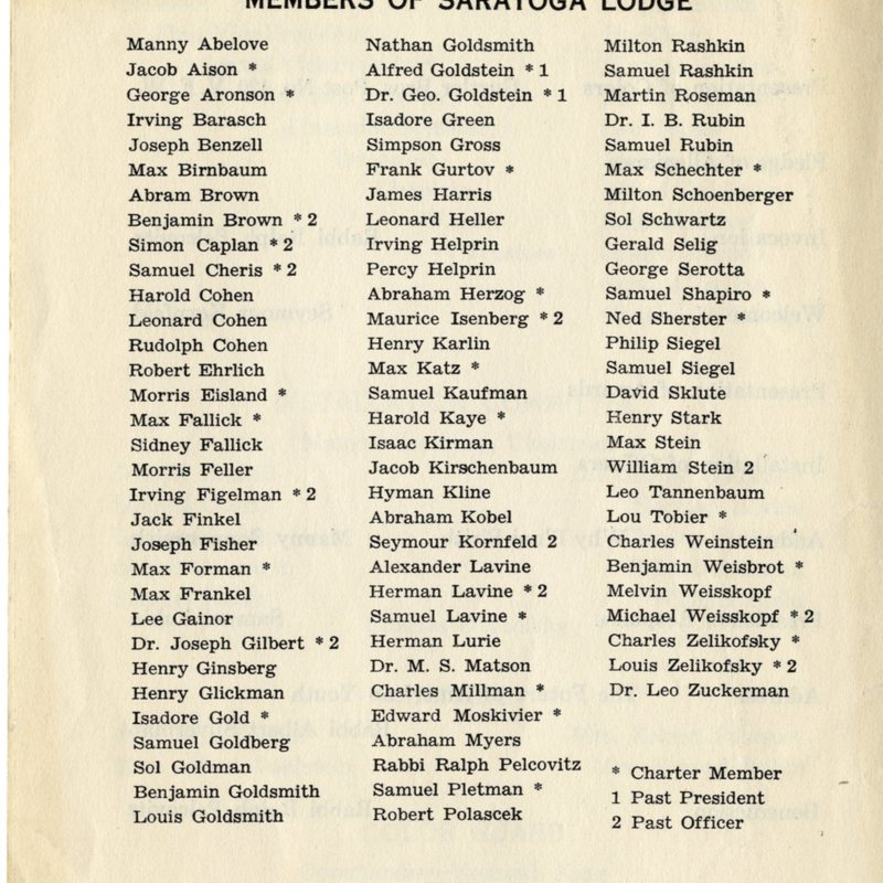 Program for Installation of Officers- back cover